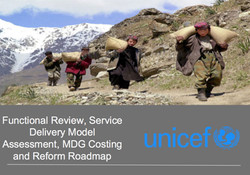 MDG Costing and Reform Roadmap