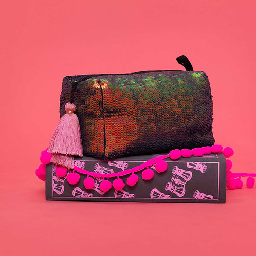 Bird of Paradise Micro Sequin Pouch