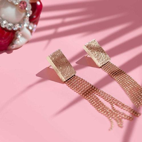 Ray of Light Ball-Chain Gold Earrings
