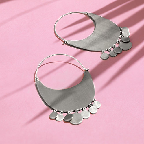 Heavenly Hoops Silver Earrings