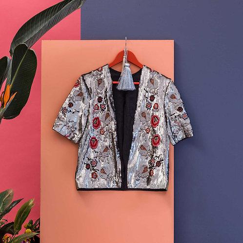 Lotus Flower Sequin Jacket