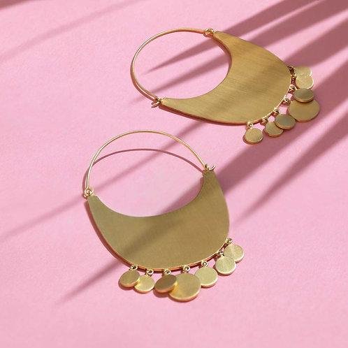 Heavenly Hoops Gold Earrings