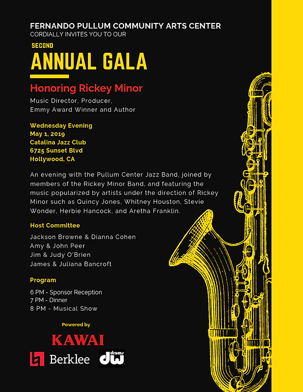 1st page Second Annual Gala - Pullum Cen