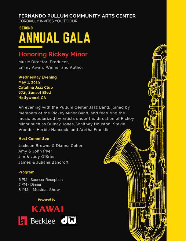 1st page Second Annual Gala - Pullum Cen