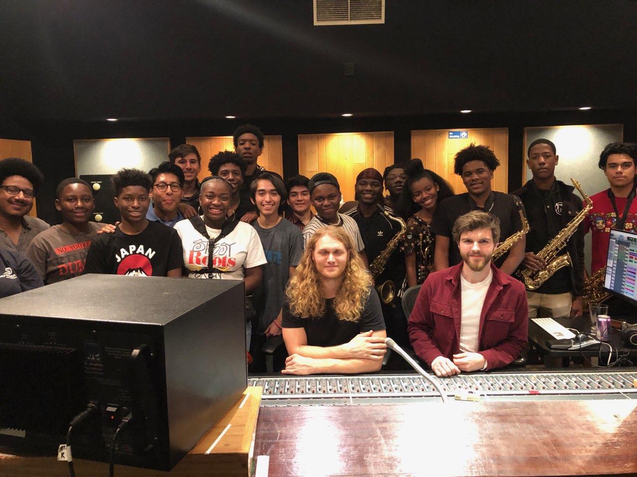 Jazz Band at Jackson Browne's Studio