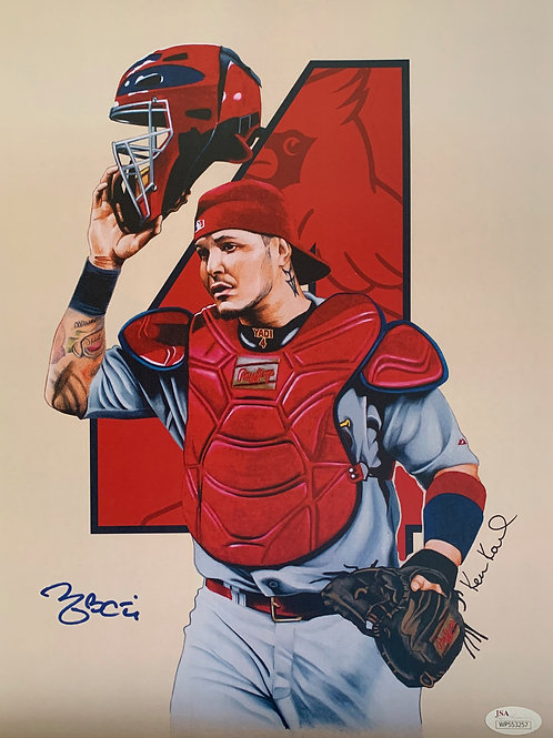 11x14 Limited Edition print of Yadier Molina