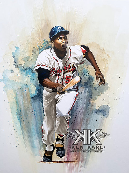 11x14 Limited Edition print of Hank Aaron