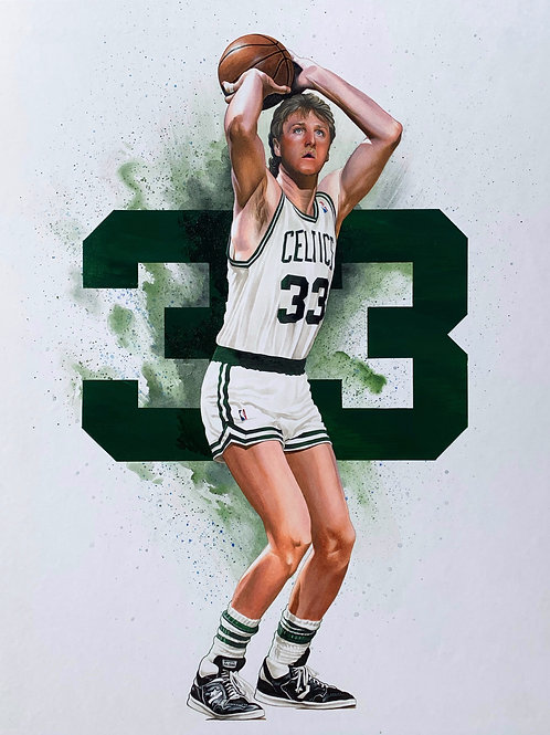 11x14 Limited Edition print of Larry Bird