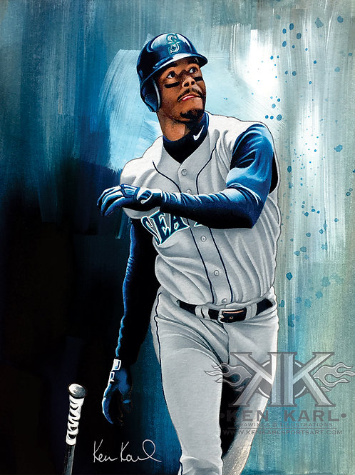 11x14 Limited Edition print of Ken Griffey Jr