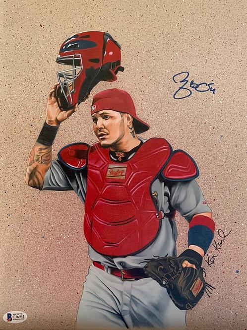 11x14 ORIGINAL drawing of Yadier Molina