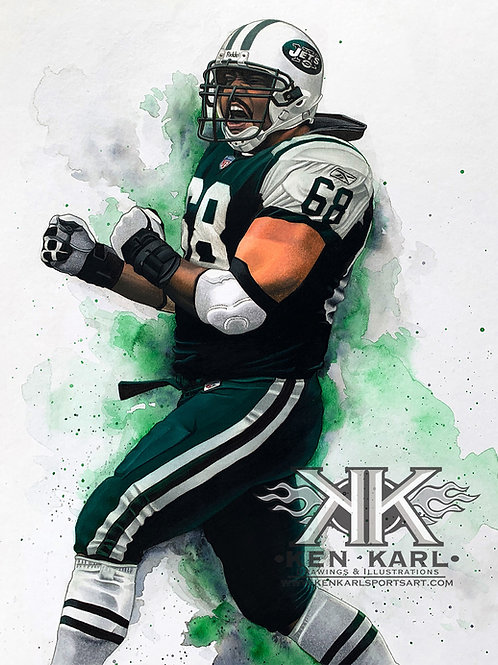 11x14 Limited Edition print of Kevin Mawae