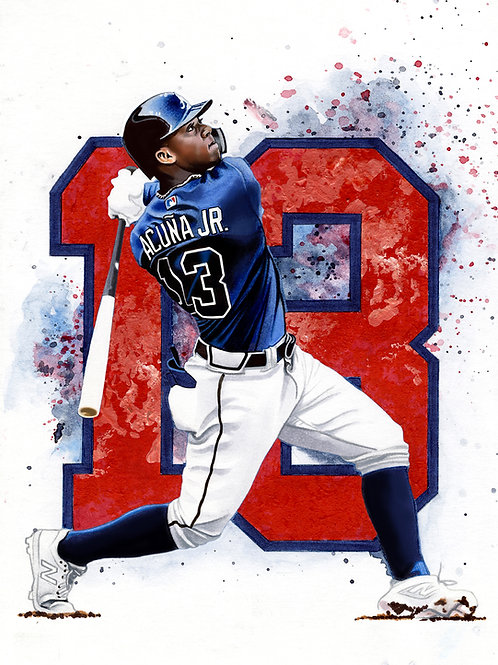 11x14 Limited Edition print of Ronald Acuna Jr