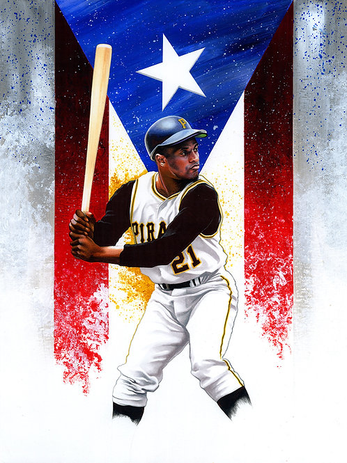 11x14 Limited Edition print of Roberto Clemente