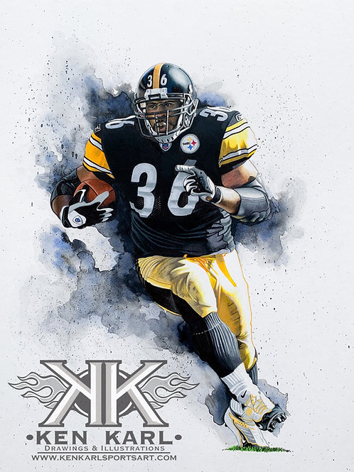 11x14 Limited Edition print of Jerome Bettis