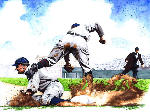 11x14 Limited Edition print of Ty Cobb