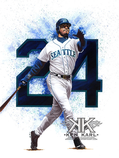 11x14 Limited Edition print of Ken Griffey Jr.