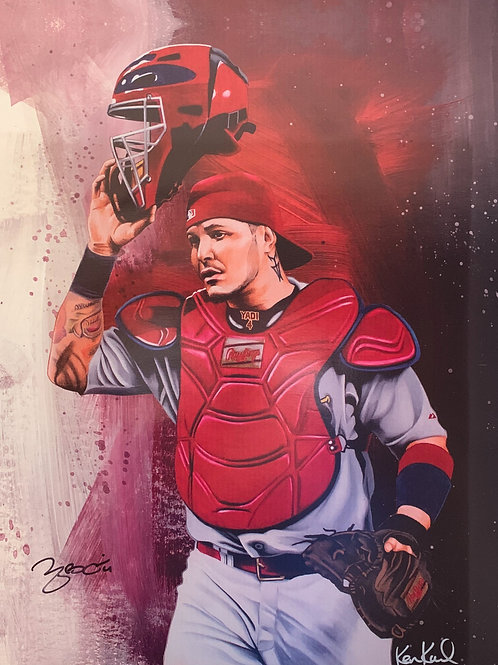 16x20 inch Limited Edition print of Yadier Molina