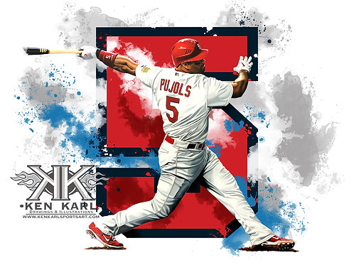 11x14 Limited Edition print of Albert Pujols