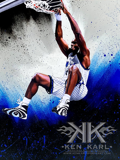 11x14 Limited Edition print of Shaquille O'Neall