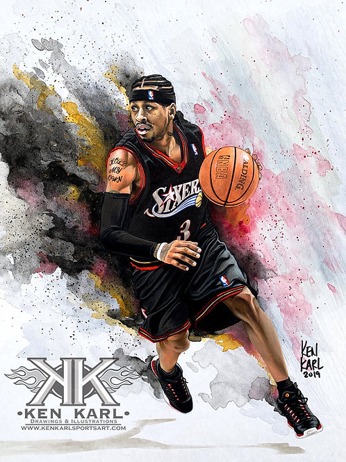 11x14 Limited Edition print of Allen Iverson