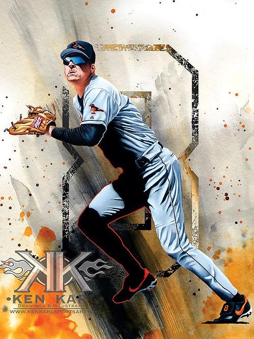 11x14 Limited Edition print of Cal Ripken Jr.