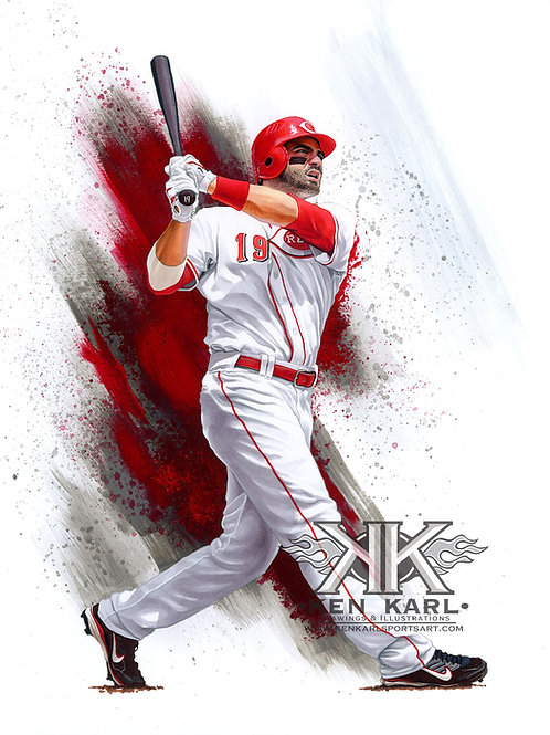11x14 Limited Edition print of Joey Votto