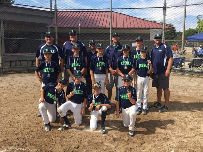 11U Rebels Baseball Rivalry on the River Champs 2020
