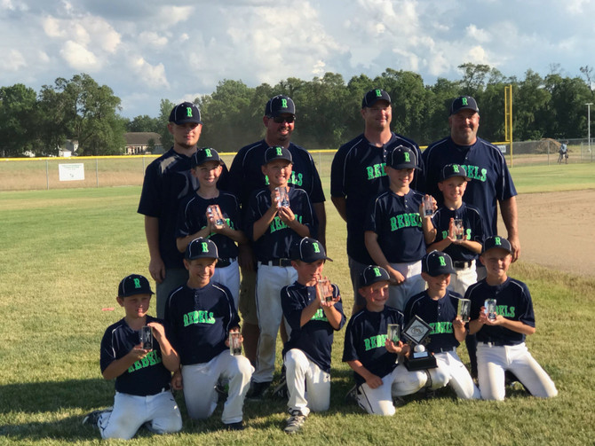 9U Rebels Baseball Places 2nd in BPA State Tournament
