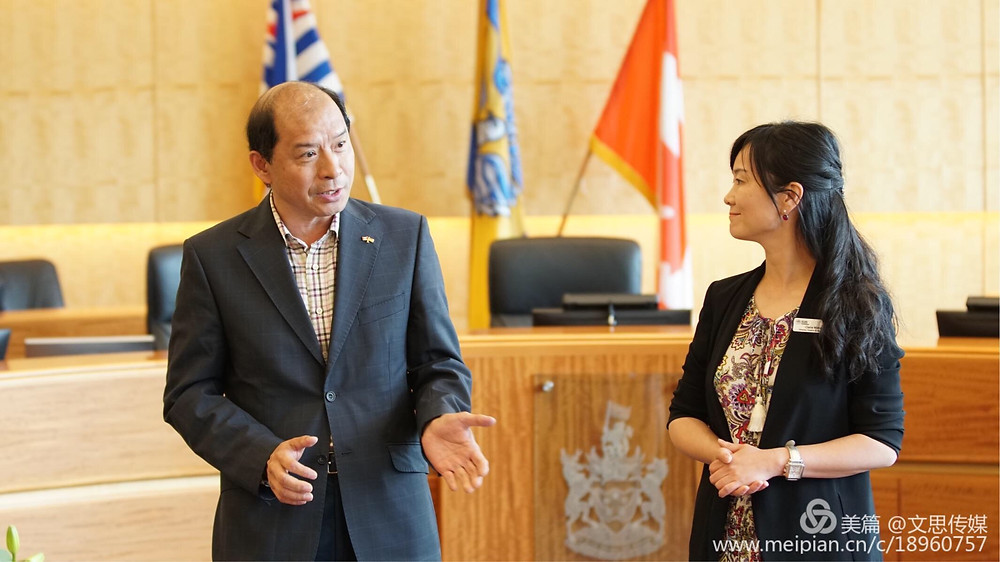 Claire Wang, Burnaby Hospital Foundation & Dong Cunfa, Principal of Chinese Ambassadors