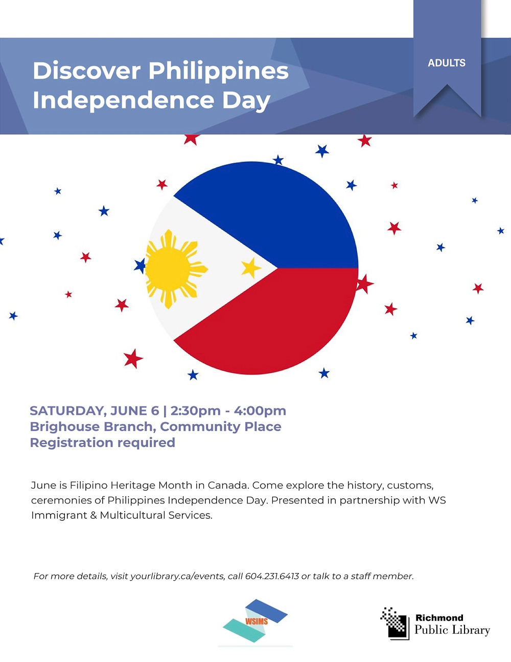 Discover Philippines Independence Day 2020 by WS Immigrant and Multicultural Services Society and Richmond Public Library