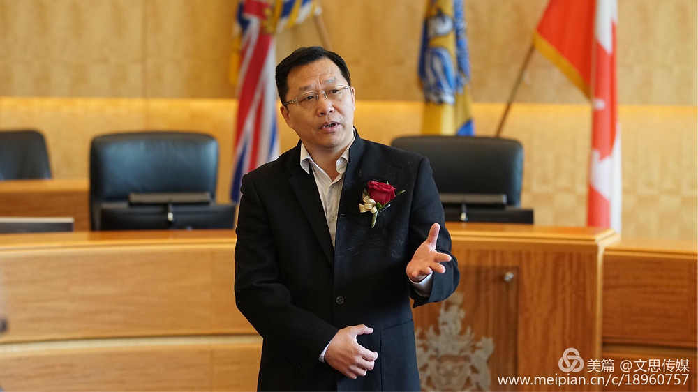 Harris Niu, Chairman of Canada Chinese Service Association, talked about Chinese Cultural Heritage Festival