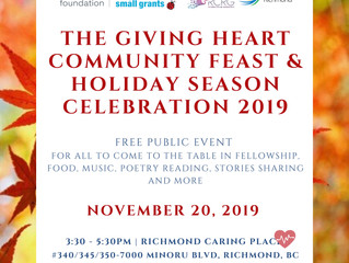 You're Invited: The Giving Heart Community Feast & Holiday Season Celebration 2019