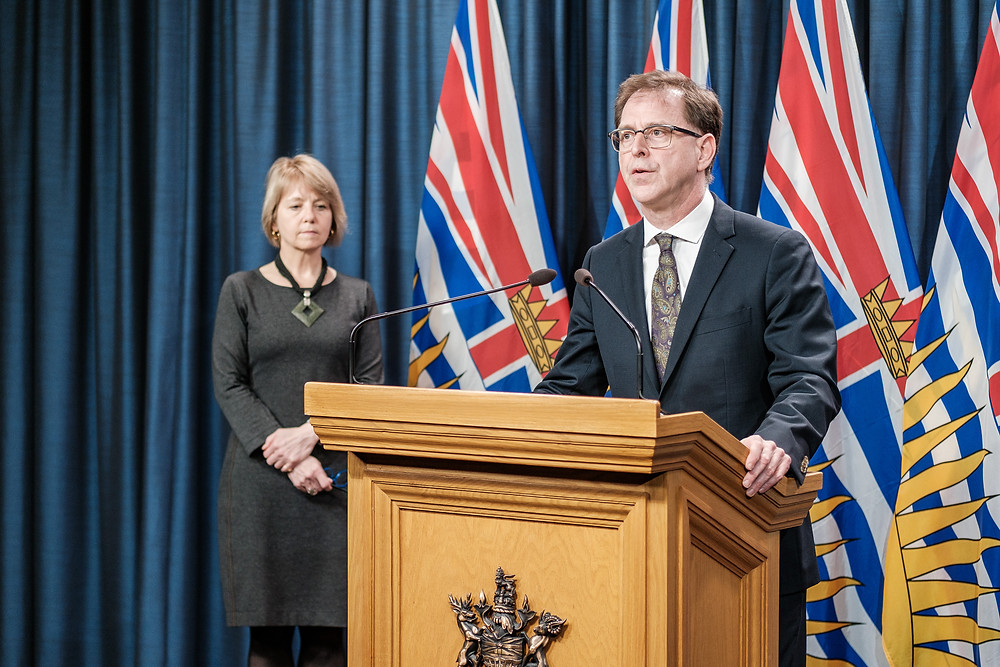 Adrian Dix was updating the COVID-19 situation in BC on April 6, 2020