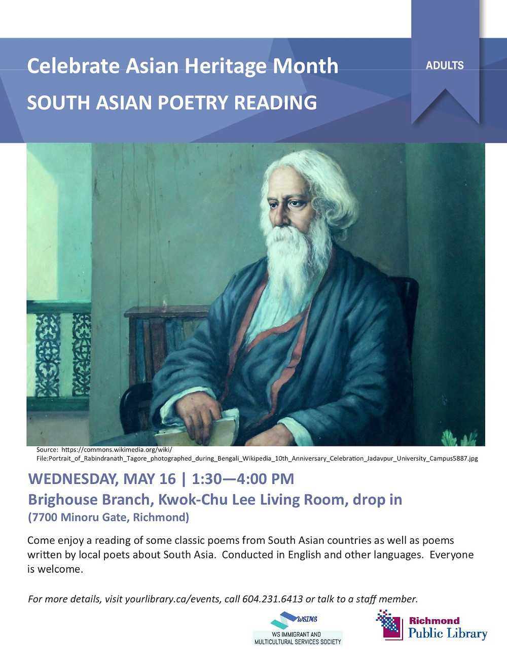 Celebrate Asian Heritage Month - South Asian Poetry Reading