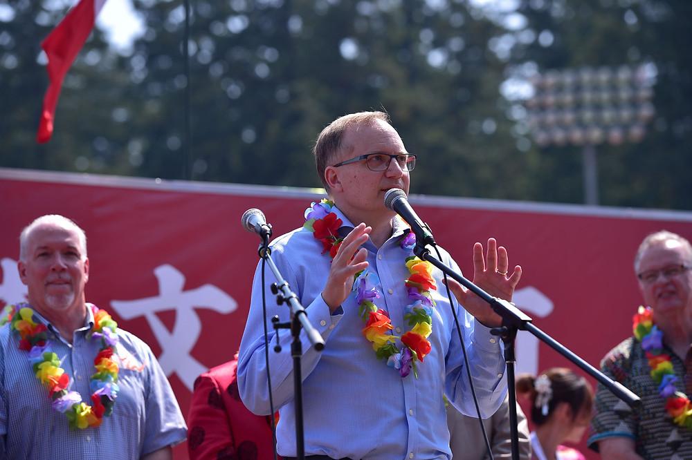 MP Peter Julian was giving a speech