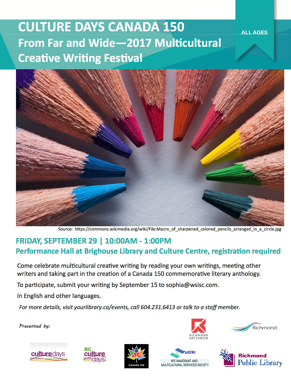 2017 Multicultural Creative Writing Contest, Festival & Book Launch