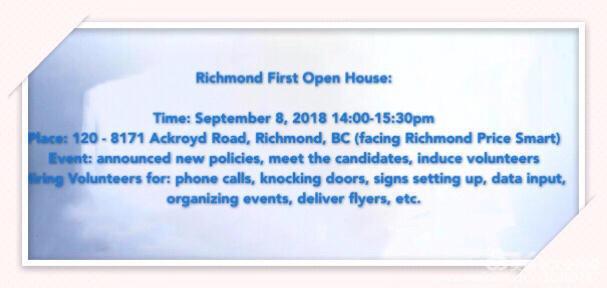 Richmond First Open House