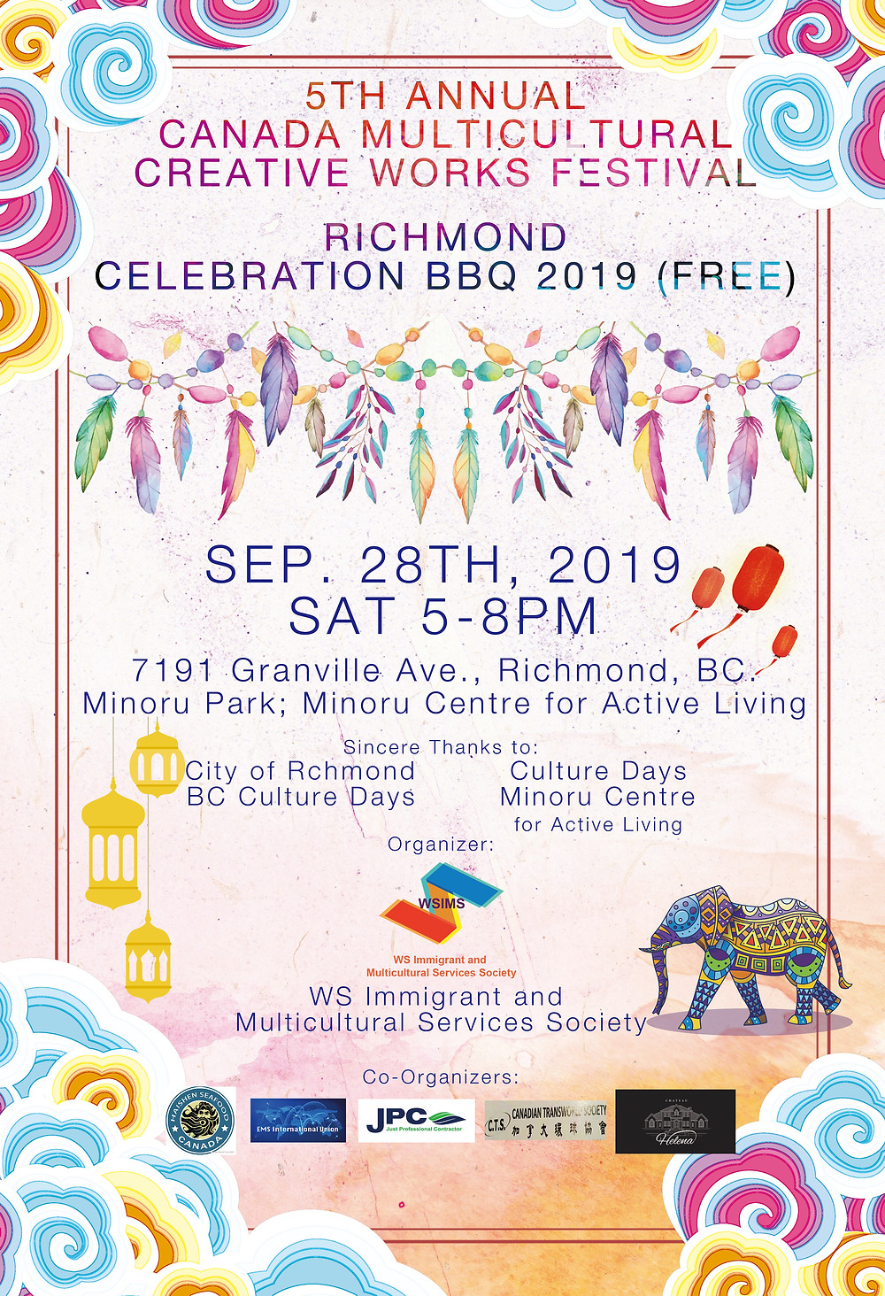 Share a Good Deed with the World --Canada Multicultural Creative Works Festival 2019 & 2019 Richmond Celebration BBQ