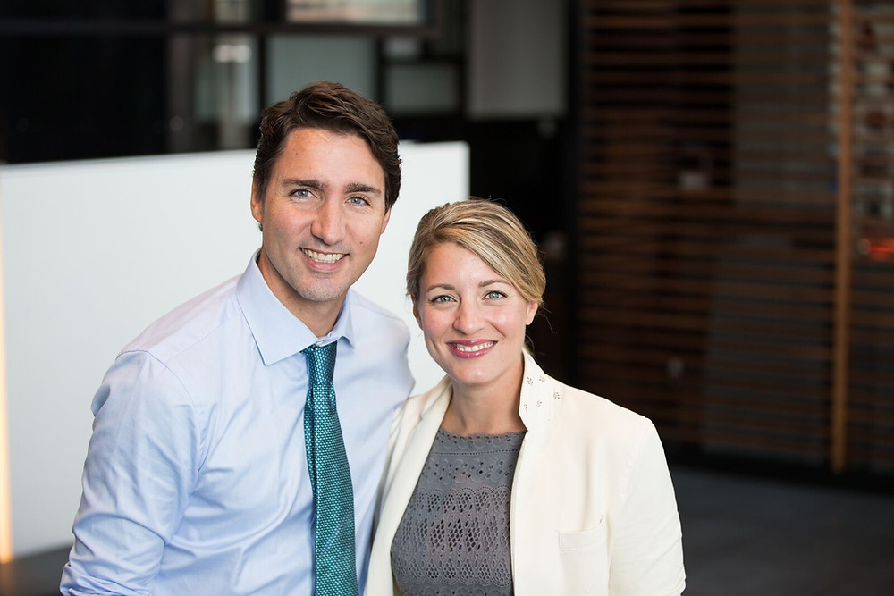 Prime Minister Trudeau and Melanie Joly-Minister of Economic Development and Official Languages