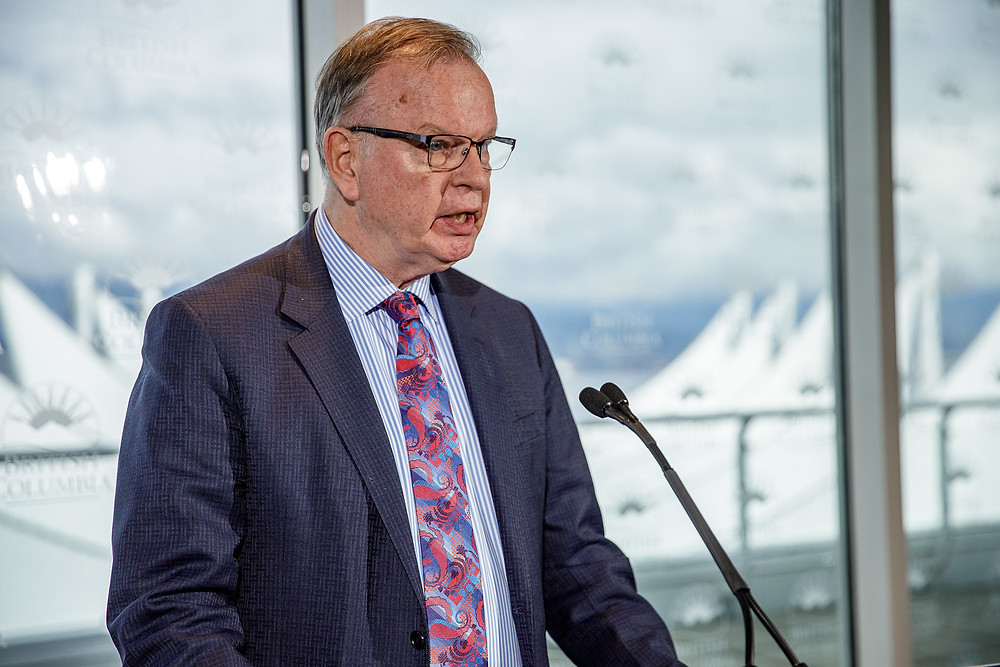 Bruce Ralston was announcing waive and reduce BC Hydro bills at Vancouver on April 30, 2020