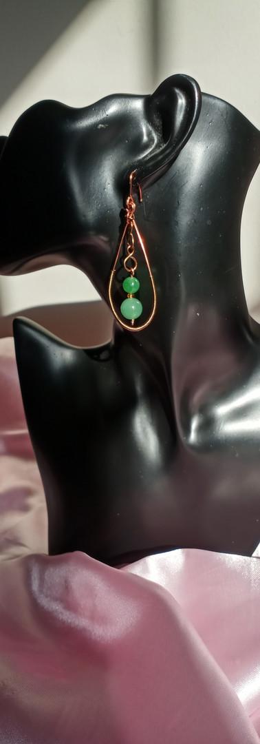 Aventurine Crystal Dangled Earrings