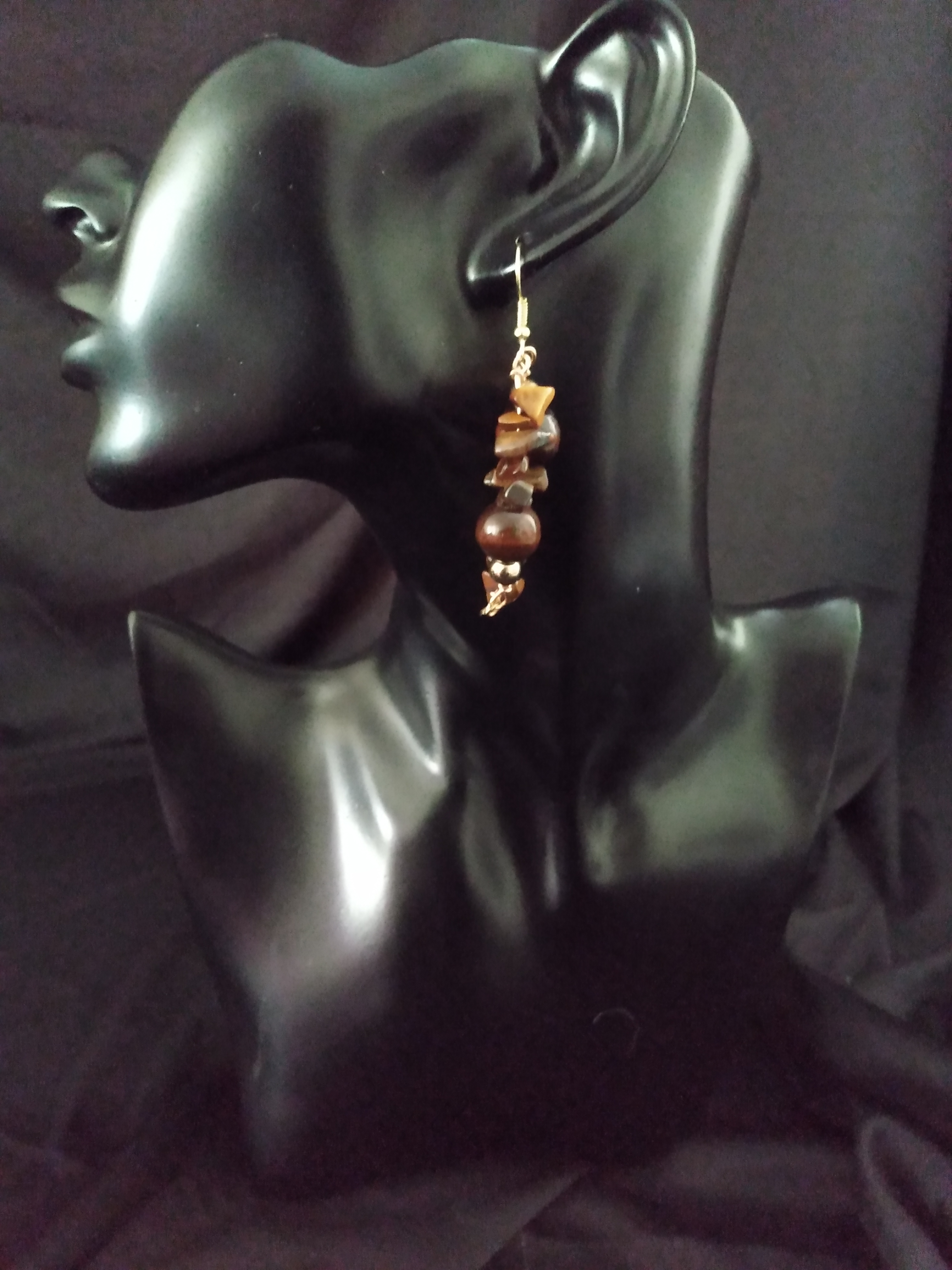 Tiger's Eye Crystal Twin Earring