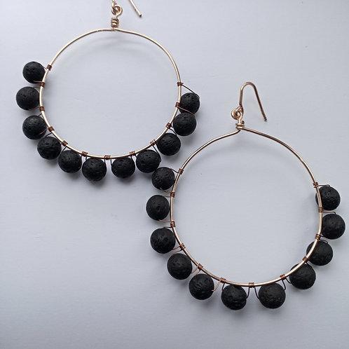 Lava Hoop Earrings