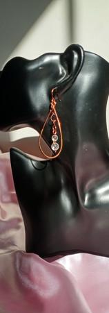 Clear Quartz Crystal Chandelier Earrings