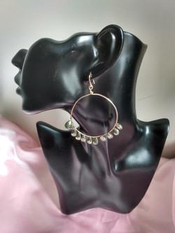 Pyrite Crystal Hoop Earrings