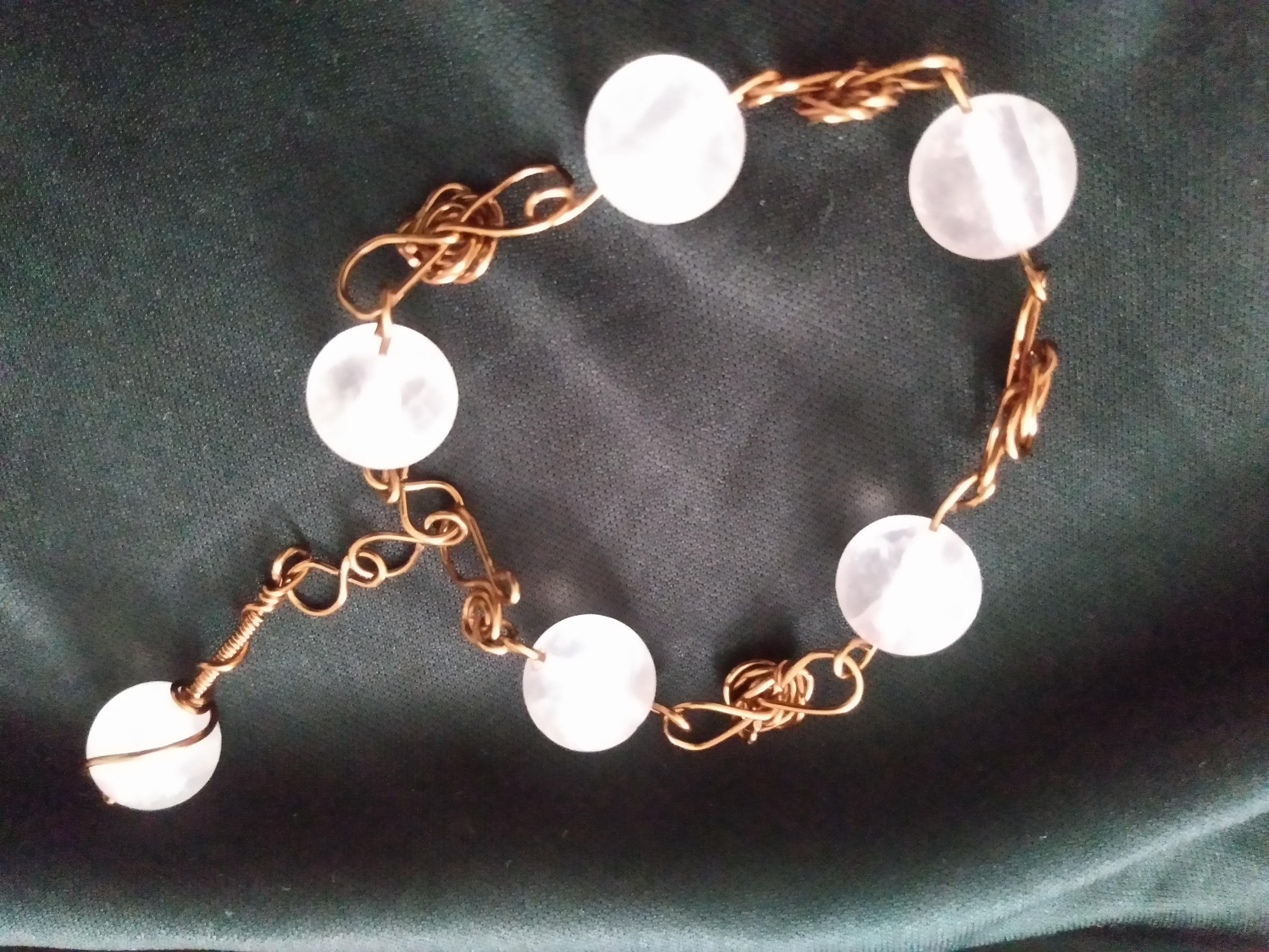 Rose Quartz Tear Drop Bracelet