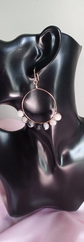 Routilated Quartz Crystal Hoops