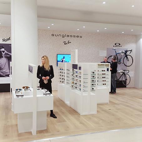 Bespoke retail design for Selfridges Sunglasses