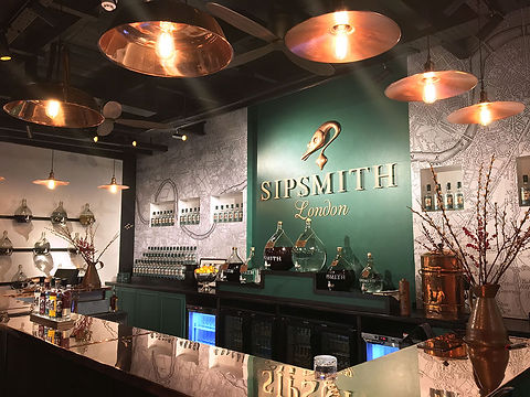 Sipsmith London distillery brand display