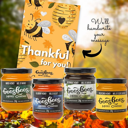 Thanksgiving Honey Care Package with Free Ottawa Delivery